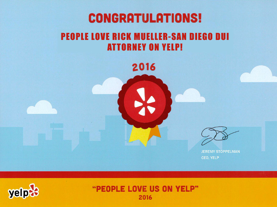 Rick Mueller San Diego DUI Yelp